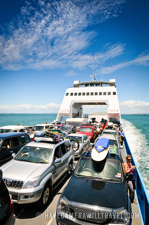 Operating between Cleveland and Stradbroke Island, the ferry transports both people and vehicles to the popular holiday destination. North Stradbroke Island, just off Queensland's capital city of Brisbane, is the world's second largest sand island and, with its miles of sandy beaches, a popular summer holiday destination.