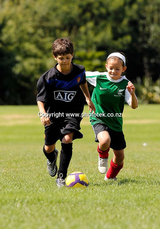 New Zealand Football Grassroots Cover Shoot, Pinehurst School Albany, Friday 18th February 2011. Photo: Shane Wenzlick