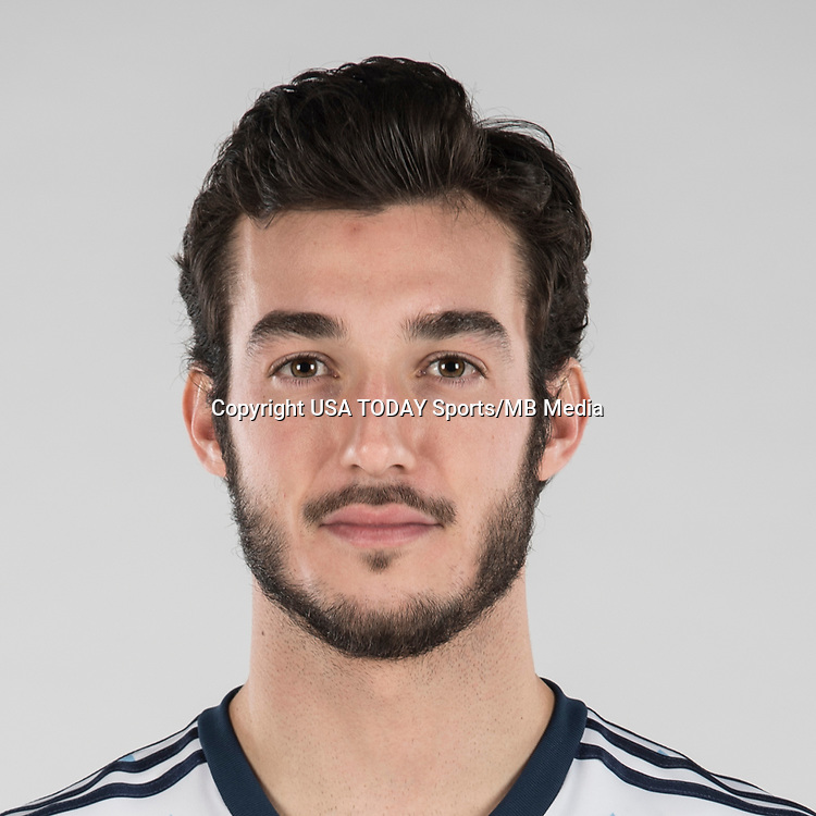 Feb 25, 2017; USA; Vancouver Whitecaps FC player Russell Teibert poses for a photo. Mandatory Credit: USA TODAY Sports