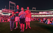 CX<br /> <br /> From left, David Seale, Clay Seale, Joshua Seale, and Andrew Seale of Omaha stand for the Star-Spangled Banner during the annual World-Herald fireworks show on Saturday, July 1, 2017, at TD Ameritrade Park in Omaha.<br /> <br /> MATT DIXON/THE WORLD-HERALD