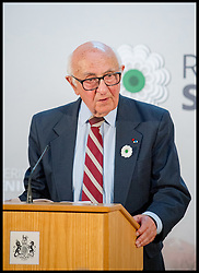 Image ©Licensed to i-Images Picture Agency. 08/07/2014. London, United Kingdom. Judge Theodor Meron Speaking at Srebrenica Memorial Reception at Lancaster House. Picture by Andrew Parsons / i-Images