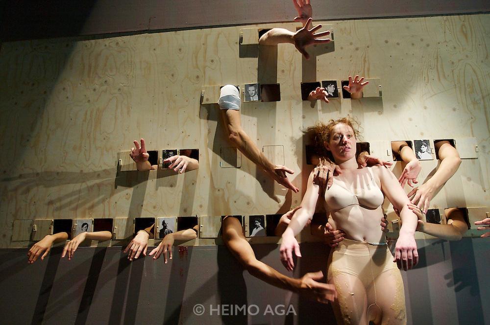 Graz, Austria. Helmut-List-Halle. Insideout, .a choreographic Installation by Sasha Waltz. Composition: Rebecca Saunders.