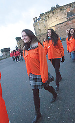 Miss Scotland Jennifer Reochs..The Miss World participants visit Edinburgh Castle and experience a rousing 'Beating Retreat' ceremony..MISS WORLD 2011 VISITS SCOTLAND..Pic © Michael Schofield.