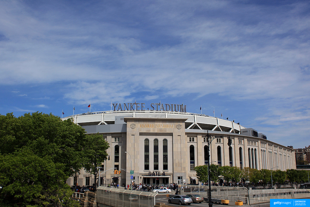 Yankee Stadium in the Bronx during the New York Yankees V Detroit Tigers Baseball game at Yankee Stadium, The Bronx, New York. 28th April 2012. Photo Tim Clayton