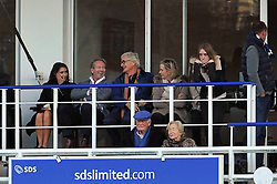 Bath Owner Bruce Craig and Sir James Dyson share a joke from the stands - Photo mandatory by-line: Patrick Khachfe/JMP - Mobile: 07966 386802 01/11/2014 - SPORT - RUGBY UNION - Bath - The Recreation Ground - Bath Rugby v London Welsh - LV= Cup