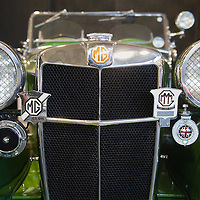 PADOVA, ITALY - OCTOBER 27:  A vintage MG car is seen on display on October 27, 2011 in Padova, Italy. The Vintage and Classic Cars Exhibition of Padova, running from the October 28 - 30, is the most important European trade show for vintage cars and motorbikes, showcasing over 1600 vehicles.