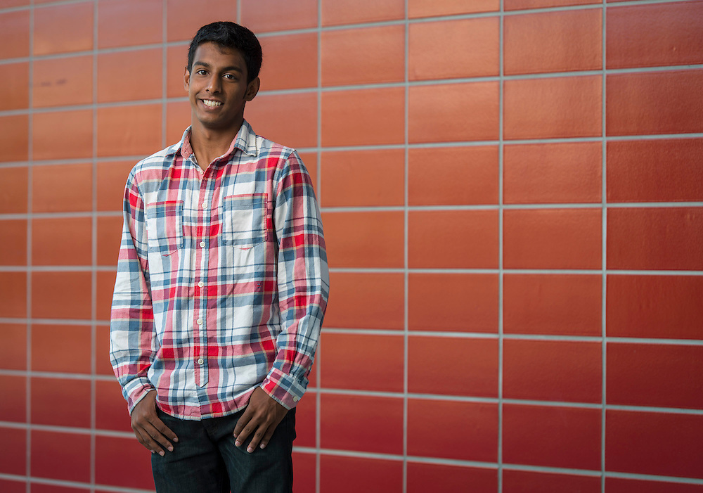 Surender Kannah poses for a photograph at Carnegie Vanguard High School, September 29, 2014.