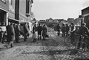 Nederland, Nijmegen, 24-2-1981Nijmegen ten tijde van de zgn. Piersonstraat, Zeigelhof ontruiming.Na de ontruiming wordt meteen met de sloop van de  kraakpanden aan de Piersonstraat begonnen.Foto: Flip Franssen/Hollandse Hoogte