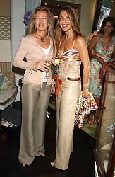 Left to right, COUNTESS GIOVANNI EMO-CAPODILISTA and COUNTESS BARBARA VON BISMARCK at a party to launch the Acqualuna jewellery exhibition at Allegra Hicks, 28 Cadogan Place, London on 22nd June 2005.<br /><br />NON EXCLUSIVE - WORLD RIGHTS