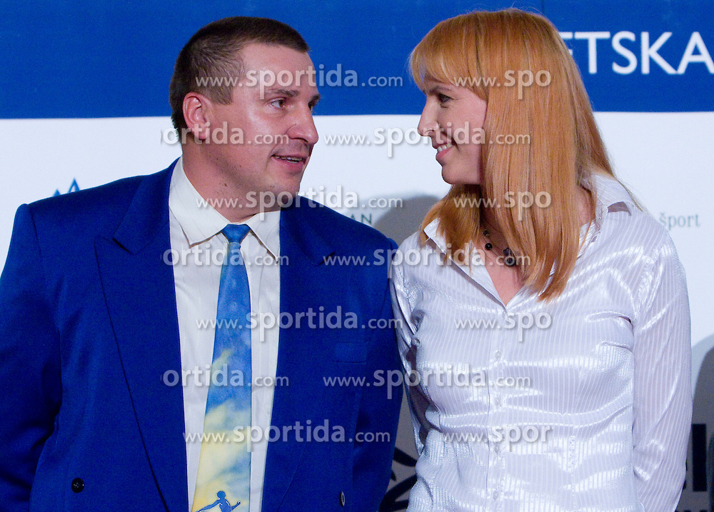 Igor Primc and Brita Bilac at Best Slovenian athlete of the year ceremony, on November 15, 2008 in Hotel Lev, Ljubljana, Slovenia. (Photo by Vid Ponikvar / Sportida)
