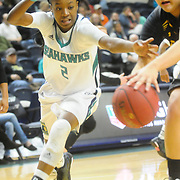 UNCW's Brie Mobley goes for a lose ball against Towson Sunday January 25, 2015 at Trask Coliseum. (Jason A. Frizzelle)