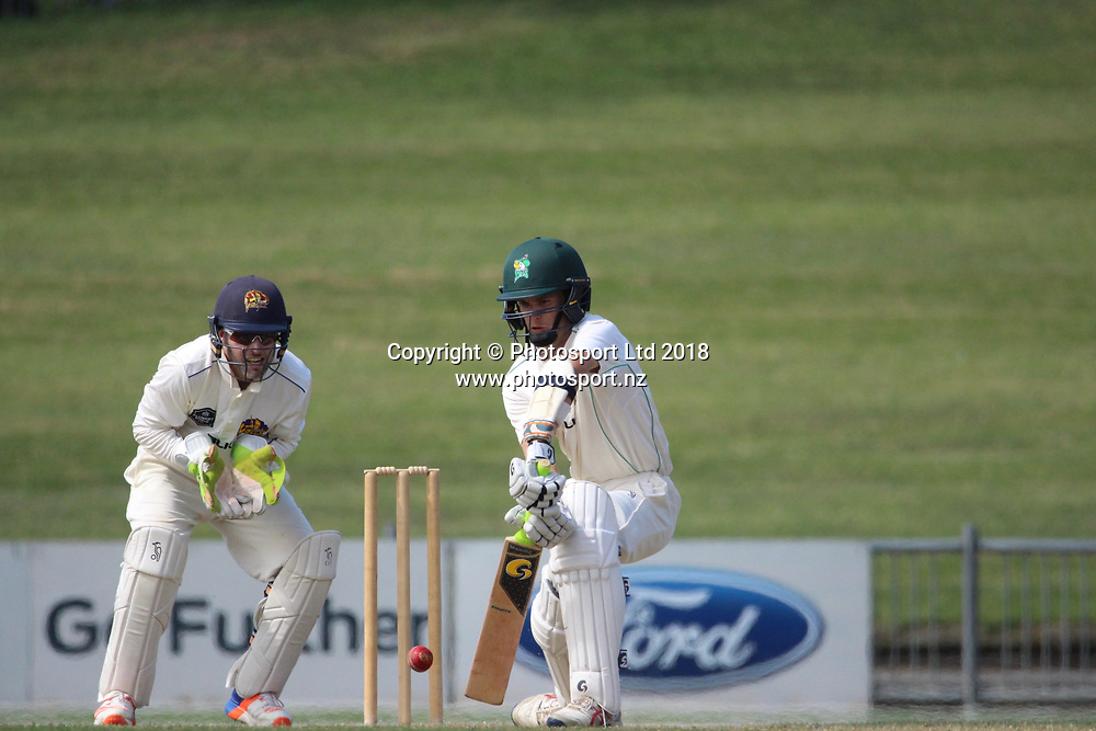 Central Stags Brad Schmulian.<br /> Central Stags v Otago Volts - Day 3, Round 6 of the Plunket Shield cricket series at McLean Park, Napier, New Zealand.<br /> 3 March 2018.<br /> Copyright photo: Margo Butcher / www.photosport.nz