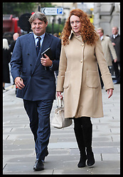 Charlie and Rebekah Brooks leaving the preliminary hearing of the phone hacking trial at the Old Bailey in London ,Wednesday, 26th September 2012. Photo by: Stephen Lock / i-Images