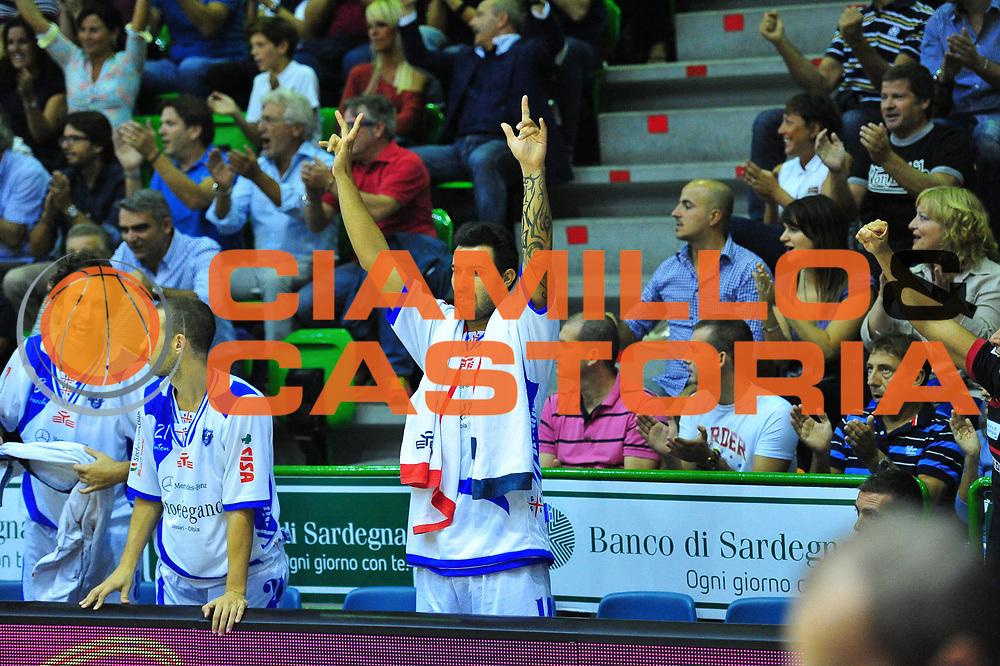 DESCRIZIONE : Sassari Lega A 2012-13 Dinamo Sassari Angelico Biella<br /> GIOCATORE : Brian Sacchetti<br /> CATEGORIA : Esultanza<br /> SQUADRA : Dinamo Sassari<br /> EVENTO : Campionato Lega A 2012-2013 <br /> GARA : Dinamo Sassari Angelico Biella<br /> DATA : 30/09/2012<br /> SPORT : Pallacanestro <br /> AUTORE : Agenzia Ciamillo-Castoria/M.Turrini<br /> Galleria : Lega Basket A 2012-2013  <br /> Fotonotizia : Sassari Lega A 2012-13 Dinamo Sassari Angelico Biella<br /> Predefinita :