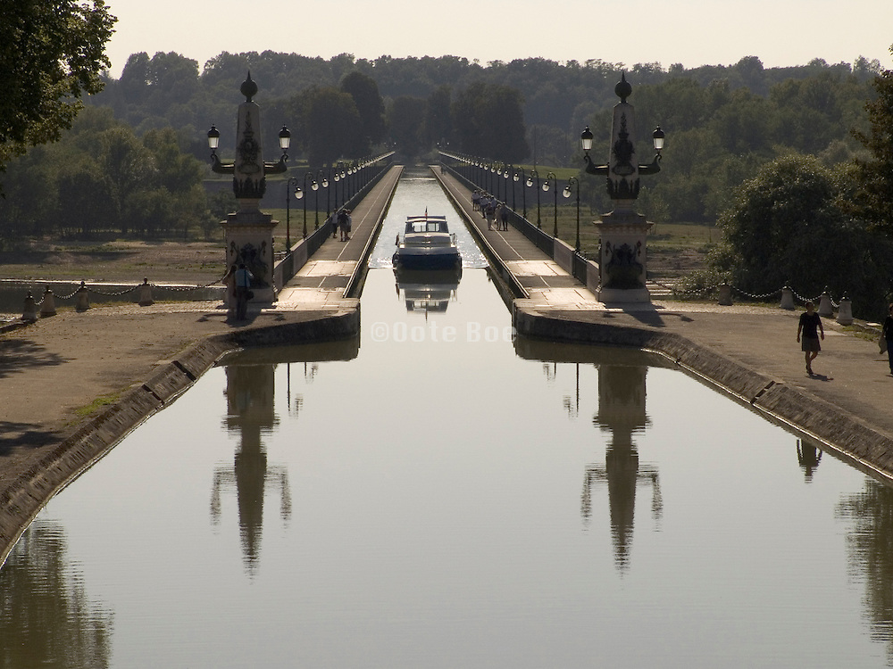 The Briare Canal build by Gustaf Eiffel opened for navigation in 1642