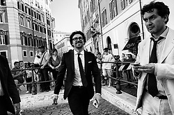 Danilo Toninelli leaving Palazzo Chigi after the first Council of Minister, on June 01, 2018 in Rome, Italy.  Christian Mantuano / OneShot