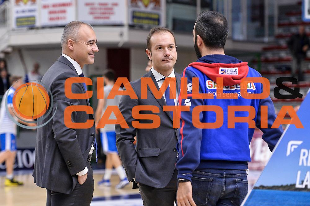 Marco Sodini, Luigi Peruzzu<br /> Banco di Sardegna Dinamo Sassari - Red October Pallacanestro Cantù<br /> LegaBasket Serie A Poste Mobile 2016/2017<br /> Sassari 12/02/2017<br /> Foto Ciamillo-Castoria