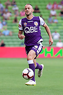 MELBOURNE, VIC - MARCH 03: Perth Glory defender Ivan Franjic (5) runs for the ball at the round 21 Hyundai A-League soccer match between Melbourne City FC and Perth Glory on March 03, 2019 at AAMI Park, VIC. (Photo by Speed Media/Icon Sportswire)