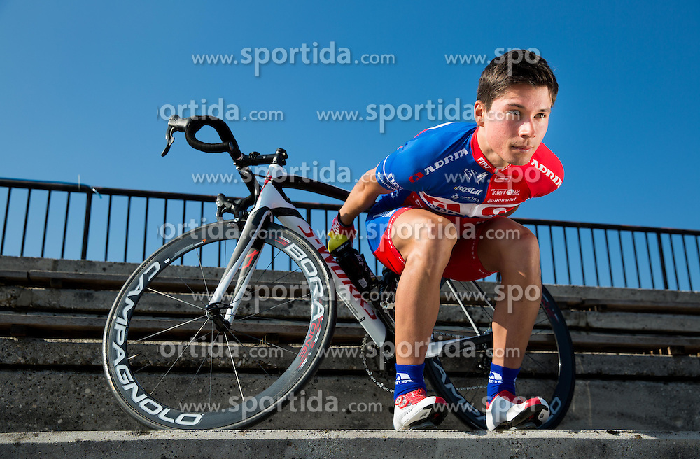 Primoz Roglic of Cycling Team Adria Mobil poses for a portrait session ahead of the 2014 road season on February 25, 2014 in Cesca vas at Novo mesto, Slovenia. Photo by Vid Ponikvar / Sportida