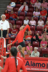 12 October 2013:   Brooklyn Hlafka during an NCAA womens volleyball match between the Missouri State Bears and the Illinois State Redbirds at Redbird Arena in Normal IL