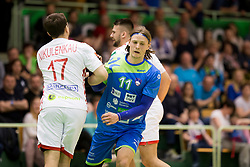 Jure Dolenc of Slovenia during friendly handball match between National teams of Slovenia and Belarus, on April 8, 2018 in Sports hall Tri Lilije, Lasko, Slovenia. Photo by Urban Urbanc / Sportida