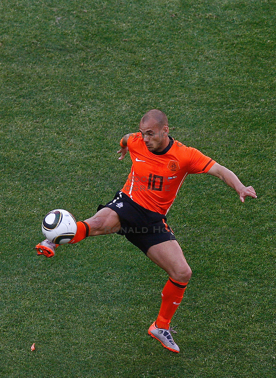 14-06-2010 VOETBAL: FIFA WORLDCUP 2010 NEDERLAND - DENEMARKEN: JOHANNESBURG<br /> Wesley Sneijder <br /> &copy;2010-FRH- NPH/  Mark Atkins (Netherlands only)