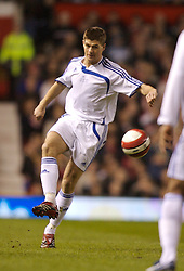 Manchester, England - Tuesday, March 13, 2007: Europe XI's Steven Gerrard in action against Manchester United during the UEFA Celebration Match at Old Trafford. (Pic by David Rawcliffe/Propaganda)