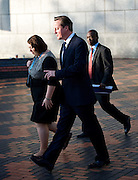 Conservative Party Conference, ICC, Birmingham, Great Britain <br /> Day 4<br /> 9th October 2012 <br /> <br /> Rt Hon David Cameron MP<br /> Prime Minister <br /> outside conference centre<br /> w/ Jessica Lee MP <br /> <br /> <br /> Photograph by Elliott Franks<br /> <br /> United Kingdom<br /> Tel 07802 537 220 <br /> elliott@elliottfranks.com<br /> <br /> ©2012 Elliott Franks<br /> Agency space rates apply