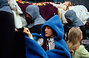 SPAIN / Aragon / Teruel. Medieval recreations in Spain. Funeral of Isabel de Segura. The city rememorates the story of lovers Isabel de Segura and Diego Marcilla, known as Los Amantes de Teruel.....