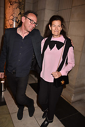 Venetia Scott and guest at Fashioned From Nature held at The V&A Museum, London, England. 18 April 2018.