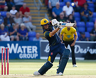 Glamorgan's Craig Meschede strikes the ball<br /> <br /> Photographer Simon King/Replay Images<br /> <br /> Vitality Blast T20 - Round 8 - Glamorgan v Gloucestershire - Friday 3rd August 2018 - Sophia Gardens - Cardiff<br /> <br /> World Copyright &copy; Replay Images . All rights reserved. info@replayimages.co.uk - http://replayimages.co.uk