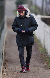 (EXCLUSIVE PICTURES) Dr Who star Matt Smith seen leaving his local chemist with a pocket full of medicine, they should rename him 'Dr Flu'! <br /> London, UK. 13/12/2012<br /> BYLINE MUST READ : GOTCHAIMAGES.COM<br />