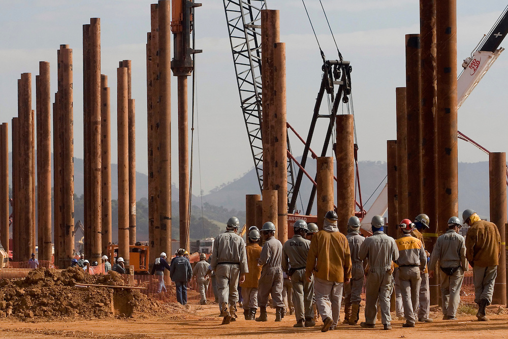 Jeacaba_MG, Brasil...Operarios em um canteiro de obras...Workers in the construction...Foto: VICTOR SCHWANER / NITRO