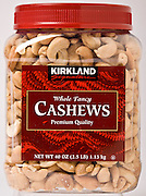 Kirkland Cashews, by Costco Wholesale.  Photographed by Brian Smale in Seattle, for BusinessWeek Magazine.