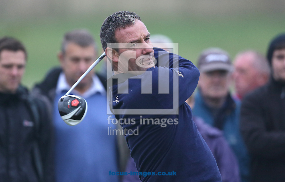 Picture by Paul Gaythorpe/Focus Images Ltd +447771 871632<br /> 04/10/2013<br /> Paul Wesselingh on the 1st tee on Day 1 of the English Senior Open at Rockliffe Hall, Darlington.