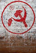 Maoist graffiti in Bhaktapur