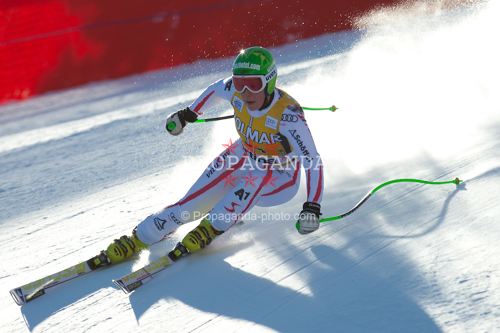 15.01.2012, Pista Olympia delle Tofane, Cortina, ITA, FIS Weltcup Ski Alpin, Damen, Super G, im Bild Stefanie Moser (AUT) // Stefanie Moser of Austria during superG race of FIS Ski Alpine World Cup at 'Pista Olympia delle Tofane' course in Cortina, Italy on 2012/01/15. EXPA Pictures © 2012, PhotoCredit: EXPA/ Johann Groder