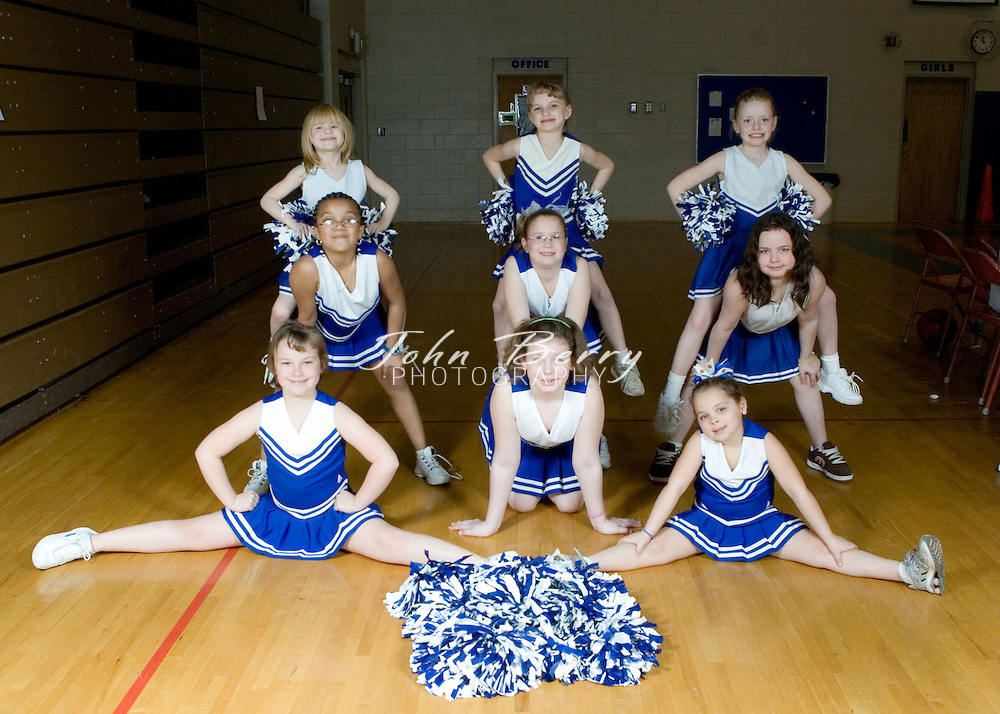 Card #5.started with Matthew Rowe.-Trone Frye's son, white #14.------.Cheerleaders.