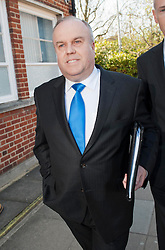 Barnet Councillor Brian Coleman arrives at Uxbridge Magistrates Court on charges of assault today, UK, 03 May 2013. Photo by:  i-Images
