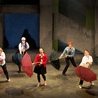 Picture shows :  Glasgow Girls Dress Rehearsal...(l-r).Dawn Sievewright, Roanna Davidson, Frances Thorburn, Amaka Okafor, Stephanie McGregor,Ameira Darwish...Picture © Drew Farrell. Tel 07721-735041...National Theatre of Scotland, Theatre Royal Stratford East, Citizens Theatre, Pachamama Productions, Richard Jordan Productions Ltd in association with Merrigong Theatre Company (Australia) present..WORLD PREMIERE of Glasgow Girls opens 31 October 2012 at the Citizens Theatre, Glasgow.Inspired by a true story.Conceived for the stage and directed by Cora Bissett. Book by David Greig.Music and Lyrics by Cora Bissett, Sumati Bhardwaj (MC Soom T), Patricia Panther and John Kielty.  Set Design by Merle Hensel, Musical Direction by Hilary Brooks, Choreography by Natasha Gilmore, Lighting Design by Lizzie Powell and Sound Design by Fergus O'Hare..The full cast is: Callum Cuthbertson, Ameira Darwish, Roanna Davidson, Stephanie McGregor, Myra McFadyen, Amaka Okafor, Patricia Panther, Dawn Sievewright and Frances Thorburn. ..Based on the true story of one of the most vocal and powerful asylum campaigns to catch the imagination of the media and inspire a community to unite behind its residents, Glasgow Girls is a brand new life-affirming Scottish musical with seven strong female leads and a vibrant multi-cultural voice at its heart. The musical promises to be a celebration of Glasgow and the power of teenagers with a cause.??The Glasgow Girls are a group of seven young women who have highlighted the poor treatment of failed asylum seekers. The group of girls from Drumchapel High School protested against the detention of one of their friends, Agnesa Murselaj, who had fled from war-torn Kosovo. Publicity grew as the girls challenged the First Minister and publicly voiced their concerns as more children at their school were dawn raided, detained and deported. Two BBC television documentaries have been made of their story. .Press contacts:..Clare McCormack, Press Officer.Tel: +44 (0)