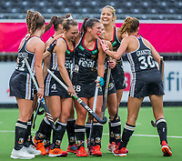 ANTWERP - BELFIUS EUROHOCKEY Championship  .  Germany v Belarus (women). Rebecca Grote (Ger) scored for Germany and celebrates with Nike Lorenz (Ger)   WSP/ KOEN SUYK