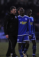 Photo: Tony Oudot/Richard Lane Photography. Northampton Town v Leicester City. Coca-Cola Football League One. 31/01/2008. <br /> Leicester manager Nigel Pearson and matchwinner Lloyd Dyer congatulate eachother at the end of the match