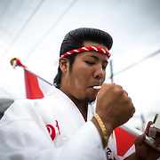 OKINAWA, JAPAN - JANUARY 8 : New adult wearing a kimono lights a cigarette as he waits for his friends during the Coming of Age Day celebration Okinawa, Japan on January 8, 2017. The Coming of Age Day, one of the Japanese national holidays, is the day to celebrate young people who have reached the age of 20, the age of maturity in Japan, when they are legally permitted to smoke, drink alcohol and vote. (Photo by Richard Atrero de Guzman/NURPhoto)
