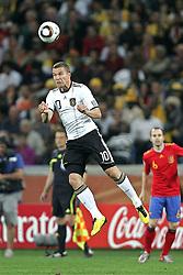 07.07.2010, Moses Mabhida Stadium, Durban, SOUTH AFRICA, Deutschland ( GER ) vs Spanien ( ESP ) im Bild Lukas Podolski ( 1. FC Koeln #10 ).Foto ©  nph /  Kokenge / SPORTIDA PHOTO AGENCY