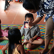 Kampot, Cambodia:  Mentally challenged children attend a school provided by Epic Arts. Jose More Photography