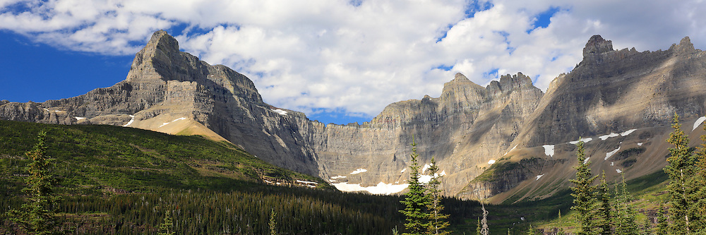 Swiftcurrent Pass Panorama Glacier National Park, Montana