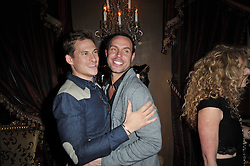 Left to right, LEE RYAN and JASON GARDINER at a party to celebrate the publication of her new book - Kelly Hoppen: Ideas, held at Beach Blanket Babylon, 45 Ledbury Road, London W11 on 4th April 2011.