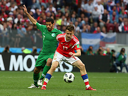 June 14, 2018 - Moscow, Russia - 14 June 2018, Russia, Moscow, FIFA World Cup, First Round, Group A, First Matchday, Russia vs Saudi Arabia at the Luzhniki Stadium. Player Alexander Golovin  (Credit Image: © Russian Look via ZUMA Wire)