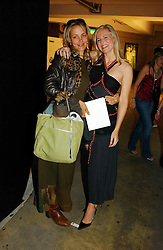 Left to right, MISS ALANNAH WESTON daughter of Galen Weston and BAY GARNETT at Fashion Fringe - part of London fashion week held at the Selfridges Car Park, off Oxford Street, London on 22nd September 2004.<br />