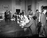 SDLP Delegation meet An Taoiseach at Government Buildings to discuss security and general situation relating to Northern Ireland..27/05/1976.05/27/1976.27th May 1976..Picture shows the SDLP delegation (L-R) Mr. Ivan Cooper, Mr. Paddy Devlin, Mr. John Hume, Mr. Austin Currie, Mr. Seamus Mallon and Mr. Frank Feely